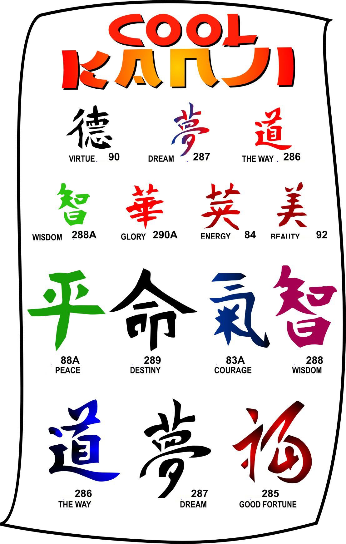 Tattoos For Now Cool Kanji